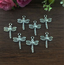 12pcs Dragonfly Tibetan Silver fit Pendants bracelet beaded Charms