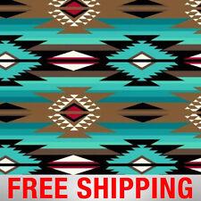 Native American Fleece Fabric Raindance Teal Free Shipping Style AA 41000-1