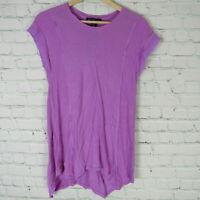 INC International Concepts XS Top Womens Purple Asymmetrical MSRP $50