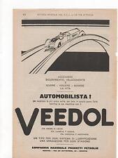 Pubblicità vintage VEEDOL LUBRIFICANTE AUTO old advertising werbung publicitè B8