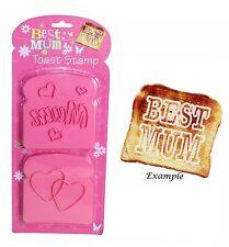 "2 pack Best ""Mum"" Hearts toast stamp set Mother's Day Birthday Anniversary Gift"