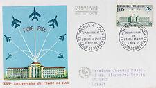 ENVELOPPE PREMIER JOUR - 9 x 16,5 cm - ANNEE 1965 - ECOLE DE L'AIR - FAIRE FACE