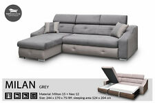 - Milan -EASY CLEANING- Corner Sofa Bed, Sleep Function more than 4seater