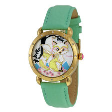 Bertha Vivica Fox Mother of Pearl Dial Teal Leather Ladies Watch BR3702