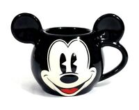 Disney Parks Black Pie Eyed Mickey Mouse Coffee Mug Cup Head Ears