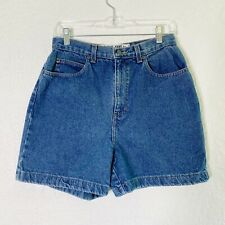 "Vintage 13"" Super High rise Mom jean Shorts Size 12 Blue 100% Cotton"