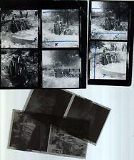 LES CHARLOTS : PLANCHE CONTACT ORIGINALE  de 6 photos + 4 négatifs 6X6   25/7/69