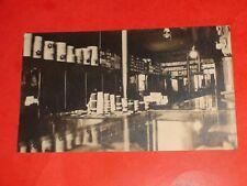 ZS307 Vintage RPPC Interior General Store Coffee Cups Sugar Tobacco Real Photo