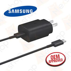 Original Samsung Galaxy Note 20 Series 25W Super Fast Wall Charger Type C Cable