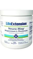 New! 2X $21.88 Life Extension Neuro-Mag Magnesium L-Threonate Powder memory