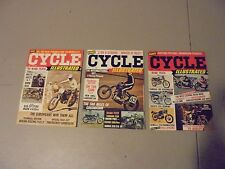 LOT OF 3 1968 CYCLE ILLUSTRATED MAGAZINE,FIRST 3 ISSUES EVER,MOTOGUZZI,BSA,BMW,G