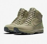 NIKE Manoadome Khaki Gray Leather Hiking Boots Men's Size 7.5 Style 844358-200