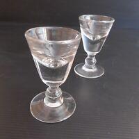 2 verres alcool liqueur vintage déco XIXe XVIIIe Renaissance fait main N3928