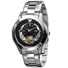 Emporio Armani Men's AR4642 Meccanico Skeleton Black  chronograph watch
