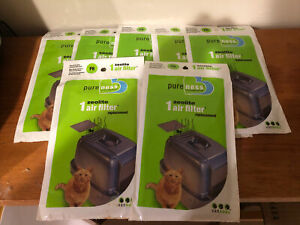 Pureness F6 Zeolite Odor Air Filter Replacement Van Ness Litter Box Lot of 7 Pkg