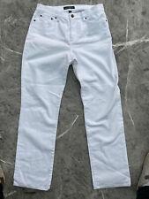 Ralph Lauren LRL White Straight Leg Jeans, Size 10