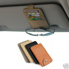 Sun-Visor Sunglasses Card Pen Holder Change Clip Car Storage Organizer Bag Pouch