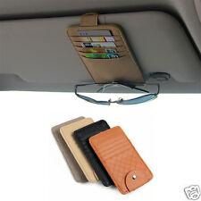 Sun-Visor Sunglasses Card Pen Holder Change Clip Car Storage Organizer Bag Pouch
