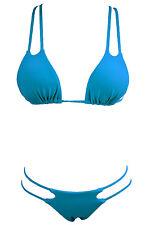 Costume Da Bagno Bikini Brasiliano Triangolo Vita Bassa Lacci Straps Swimwear XL