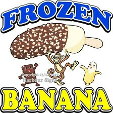 Frozen Banana DECAL (Choose Your Size) Concession Food Truck Vinyl Sticker