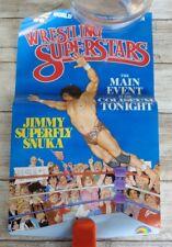 Jimmy Superfly Snuka LJN WWF Wrestling Superstars Vintage Poster
