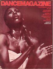 Dance Magazine November 1972 Hulda Butsova, Judith Jamison 062816DBE