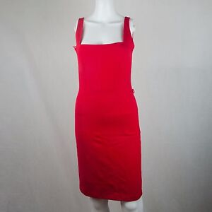 Mango Suit Strap Body Con Sleeveless Red Dress EUR Size Small