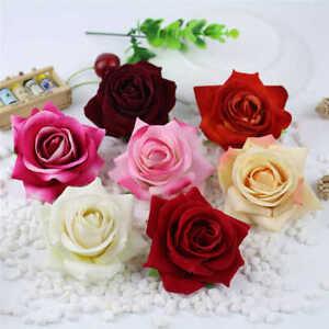 NEW Beautiful Velvet Touch Rose Hair Clip Brooch pin coat