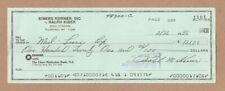 Ralph Kiner - Autograph Signed Check - Kiners Korners - NY Mets - Hall of Fame
