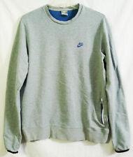 Vintage Nike Sportswear Single Zipper Pocket Lightweight Heather Gray Sweater M