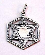 Jewish Star of Magen David pendant 12 Tribes # sterling silver 925 Judaica