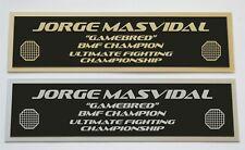 Jorge Masvidal UFC nameplate for signed mma gloves photo or case