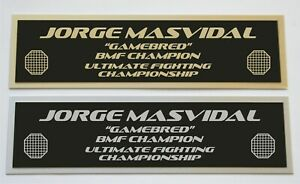 Jorge Masvidal UFC nameplate for signed mma gloves photo or case