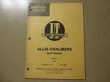 Allis Chalmers D21 tractor I & T Service & Shop manual