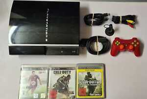 Sony Playstation 3 PS3 FAT Konsole 80GB + Controller + 3 Spiele + Kabel Headset