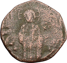 JESUS CHRIST Class C Anonymous Ancient 1034AD Byzantine Follis Coin  i39423