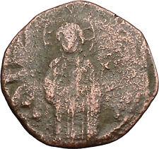 JESUS CHRIST Class C Anonymous Ancient 1034AD Byzantine Follis Coin  i39423