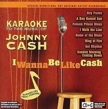 Karaoke to the Music of Johnny Cash: I Wanna Be Like Cash by Karaoke (CD,...