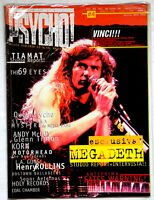 MEGADETH cover and article PSYCHO! #4 year 1997 KORN MOTORHEAD