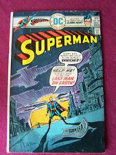 "Fine - 1975 Dc Comics, Vol 37, #294, Comic Book, ""Superman!""Last Man on Earth!"""