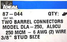 (2) IDEAL Two Barrel Connectors Model DLA-250 AL9CU