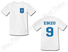 T-shirt Enfant Equipe Nationale Football France avec Prénom Personnalisé