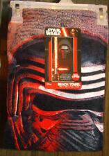 Star Wars Episode VII Kylo Ren Beach Towel measures 28 x 58 inches