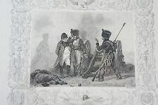 Druck Buchseite Bonaparte Combat de Montereau Raffet (N120)