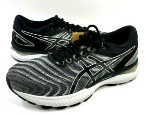 Asics Gel Nimbus 22 Mens 8 Running Shoes Black Gray Sneakers 1011A680 NWOB