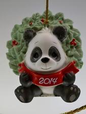 Precious Moments Ornament Panda Bear dated 2014 141007 Bx FreeusaShp