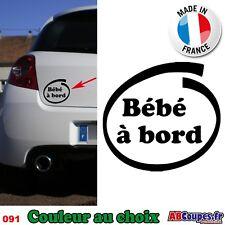 Sticker autocollant Voiture Bébé à bord - 091
