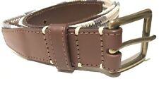 MENS COUNTRY ROAD BELT • BRAND NEW • RRP $109 • TAN LEATHER • CREAM AND BLUE