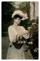 Antique RPPC postcard portrait Vesta Tilley actress stage music hall