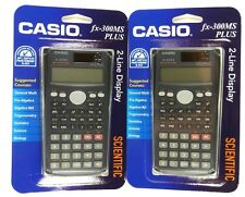 Lot of (2) CASIO FX300-MS Scientific Calculator with 240 Built-In Functions